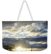 Cloudy Blue Weekender Tote Bag