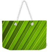 Coconut Palm Leaf Weekender Tote Bag
