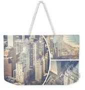 Collage Of Chicago  Weekender Tote Bag
