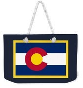 Colorado Flag Weekender Tote Bag