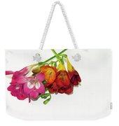 Colorful Freesia Weekender Tote Bag
