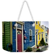 Colorful Houses In St. John's Weekender Tote Bag