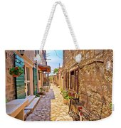 Colorful Mediterranean Stone Street Of Prvic Island Weekender Tote Bag