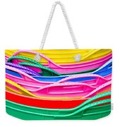 Colorful Plastic Weekender Tote Bag
