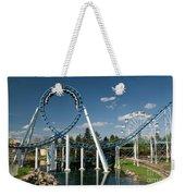 Cork-screw Rollercoaster And Ferris-wheel Weekender Tote Bag