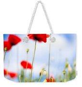 Corn Poppy Flowers Weekender Tote Bag by Nailia Schwarz
