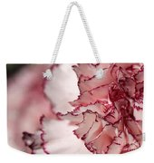 Creamy White With Red Picotee Carnation Weekender Tote Bag