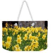 Daffodils And Bar Walls, York, Uk. Weekender Tote Bag