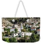 Dhermi Traditional Village View In Southern Albania Weekender Tote Bag