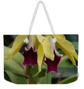 Double Orchid Weekender Tote Bag