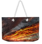 Dramatic Skies Great Smoky Mountains Nc At Sunset In Winter Weekender Tote Bag