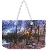 Early Morning Forest Pond Weekender Tote Bag