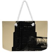 Early Morning Sunrise Over Charlotte North Carolina Skyscrapers Weekender Tote Bag