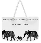 Elephant Family-black Weekender Tote Bag