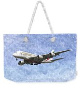 Emirates A380 Airbus Watercolour Weekender Tote Bag