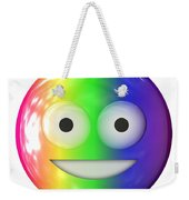 Emoticon Plastic Face Weekender Tote Bag