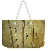 Fender Guitar Patent From 1951 Weekender Tote Bag