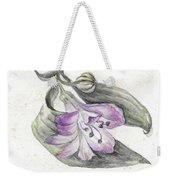 Purple Flower Weekender Tote Bag