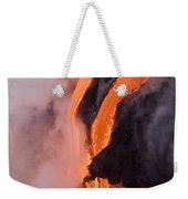 Flowing Pahoehoe Lava Weekender Tote Bag