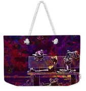 Frogs Yoga Bank Bench Relaxed  Weekender Tote Bag