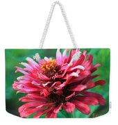 Fuchsia Pink Zinnia From The Whirlygig Mix Weekender Tote Bag