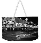 Golden Nugget Casino At Night In The Rain Las Vegas Nevada 1979 Weekender Tote Bag