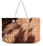 Gravestone Of Burnt Witch Weekender Tote Bag