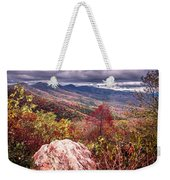 Graveyard Fields Overlook In The Smoky Mountains In North Caroli Weekender Tote Bag