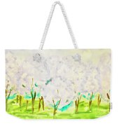 Hand Painted Picture, Spring Garden Weekender Tote Bag