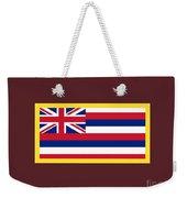 Hawaii Flag Weekender Tote Bag