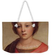 Head Of The Madonna Weekender Tote Bag
