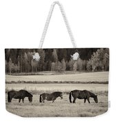 Horses Of The Fall  Bw Weekender Tote Bag