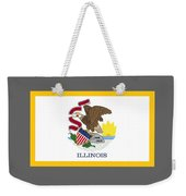 Illinois Flag Weekender Tote Bag