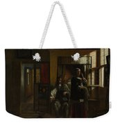 Interior With A Young Couple Weekender Tote Bag