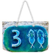 Jaffa, Pisces Zodiac Street Sign  Weekender Tote Bag