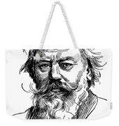 Johannes Brahms 1833-1897 Weekender Tote Bag