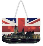London Cityscape With Big Ben Weekender Tote Bag