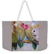 Flygende Lammet   Productions             3 Love Birds Perched Weekender Tote Bag