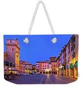Mantova City Piazza Delle Erbe Evening View Panorama Weekender Tote Bag