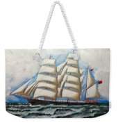 3 Master Tall Ship Weekender Tote Bag