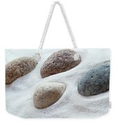 Meditation Stones On White Sand Weekender Tote Bag
