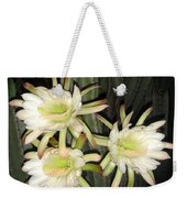 3 Midnight Stars.... White And Beautiful Weekender Tote Bag