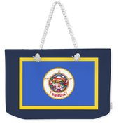 Minnesota Flag Weekender Tote Bag