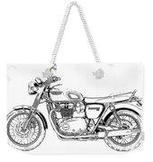 Motorcycle Art, Black And White Weekender Tote Bag