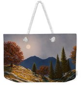 Mountain Moonrise Weekender Tote Bag