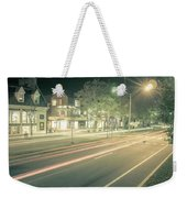 Newport Rhode Island City Streets In The Evening Weekender Tote Bag