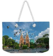 Notre-dame Cathedral Basilica Of Saigon, Officially Cathedral Basilica Of Our Lady Of The Immaculate Weekender Tote Bag