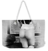 Nude Posing: Rear View Weekender Tote Bag