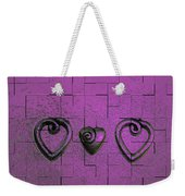 3 Of Hearts Weekender Tote Bag