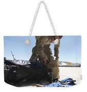 Pararescuemen Sorts Out His Gear Weekender Tote Bag